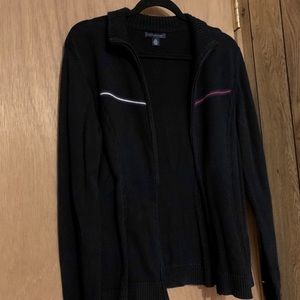 Tommy Hilfiger Black Cable Knitted Zip Up